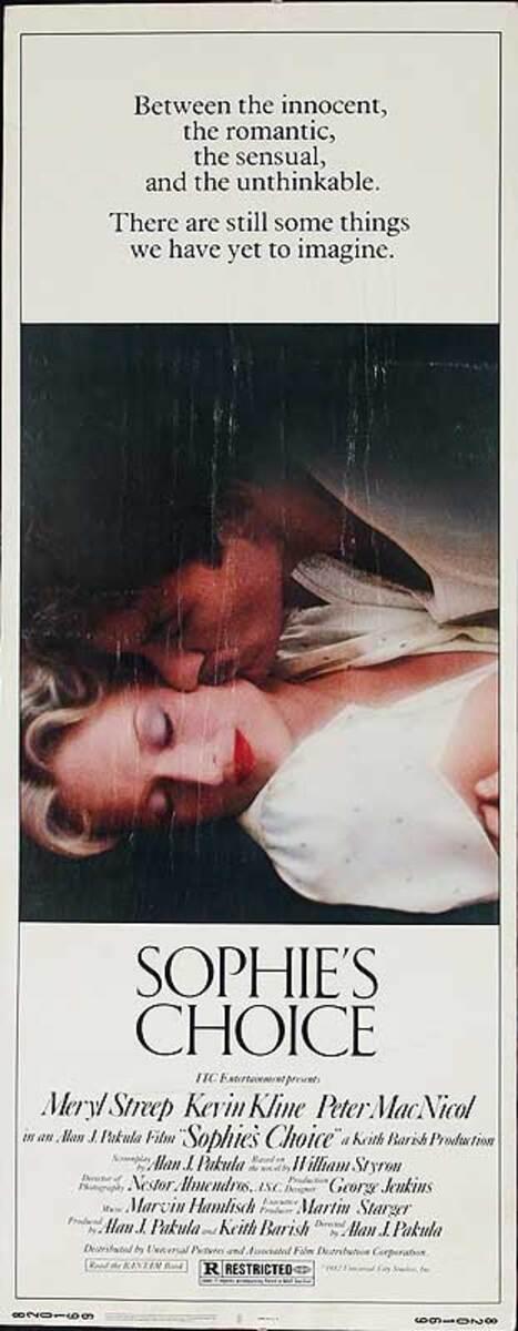 Sophie's Choice Original American Insert Movie Poster
