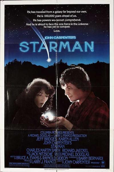 Starman Original American One Sheet Movie Poster
