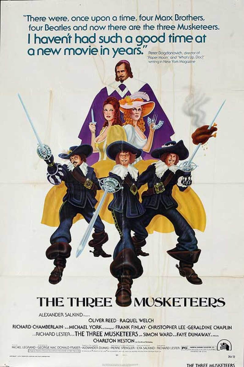 The Three Musketeers Original American One Sheet Movie Poster