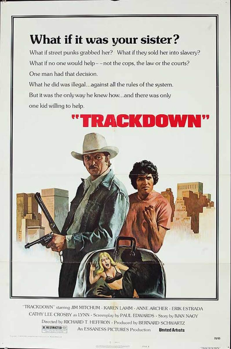 Trackdown Original American One Sheet Movie Poster