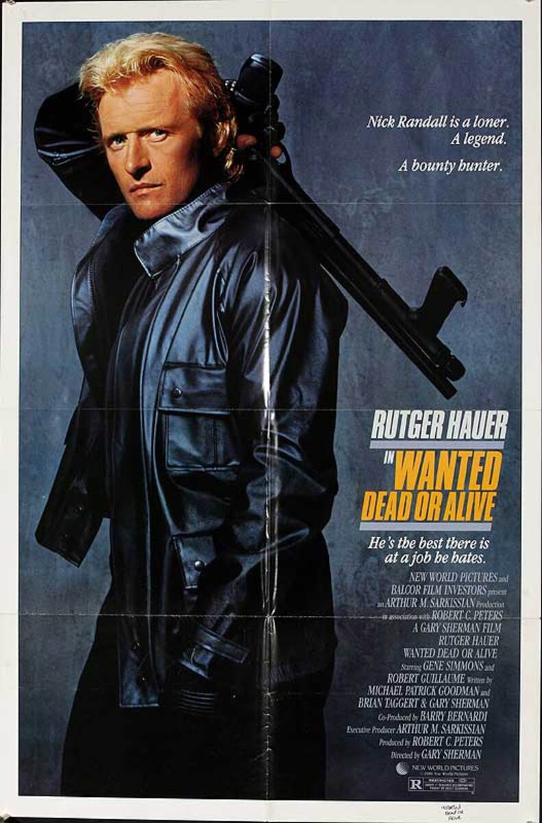 Wanted Dead or Alive Original American One Sheet Movie Poster