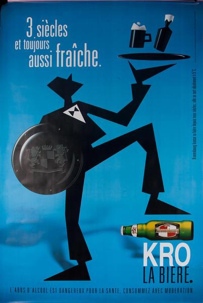 3 Siecles et toujours aussi fraice. Kronenbourg Original Vintage Advertising Poster