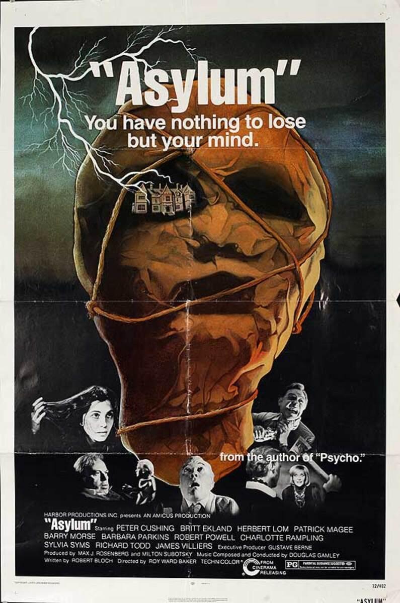 Asylum Original American One Sheet Movie Poster