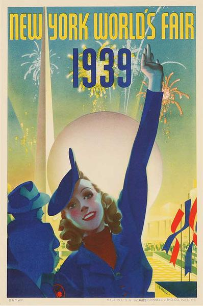 Original 1939 New York World's Fair Poster Staehle small size