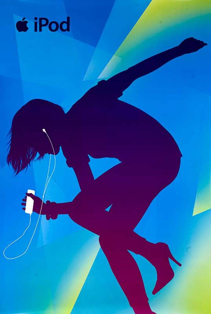 Original Apple iPod Advertising Poster 4th series teal