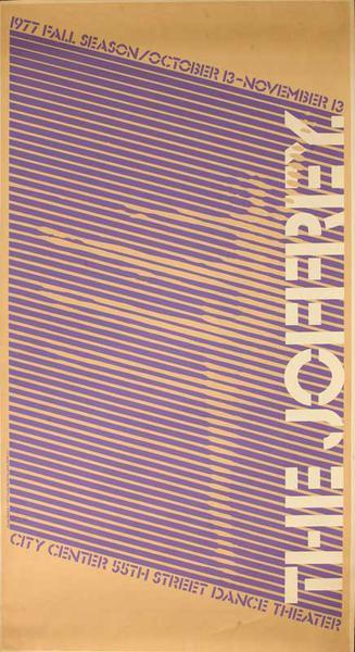 The Joffrey Ballet Fall Season 1977 Original Ballet Poster