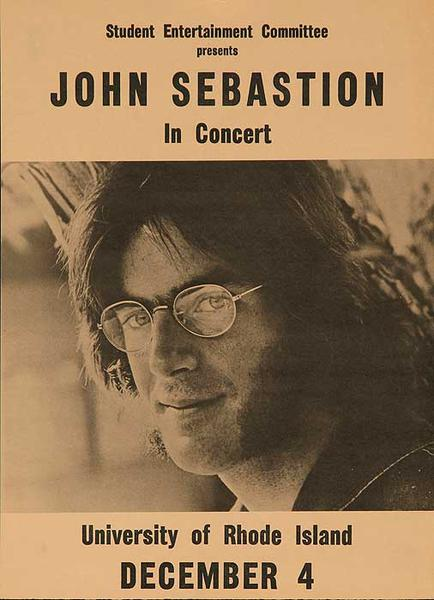 John Sebastion in Concert University of Rhode Island Original Rock and Roll Poster