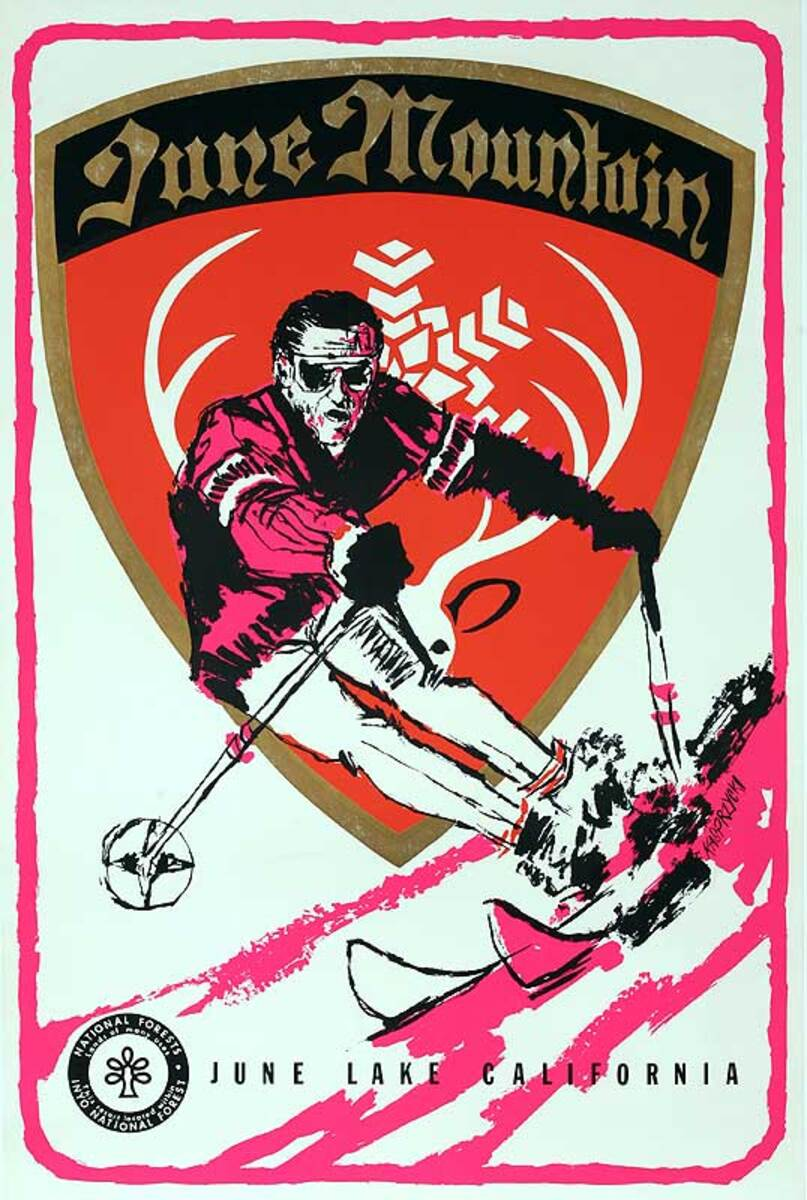 June Mountain Ski Original California Travel Poster