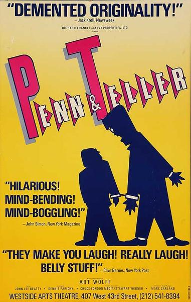 Penn & Teller Demented Original American Theater Lobby Card