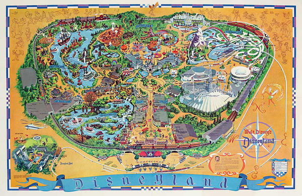 Original Disneyland Souvenir Map Poster