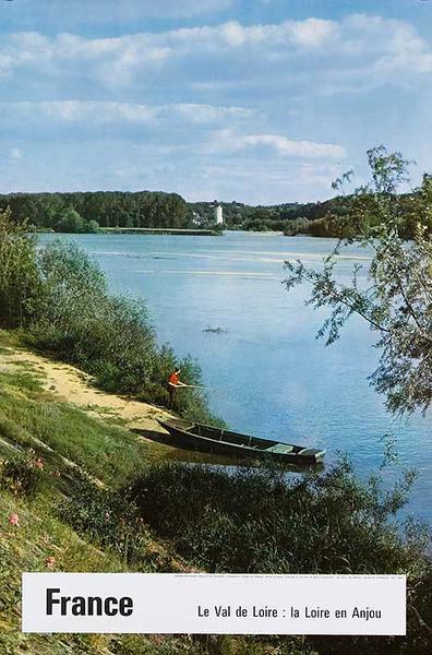 France La Val de Loire Original French Travel Poster river scene