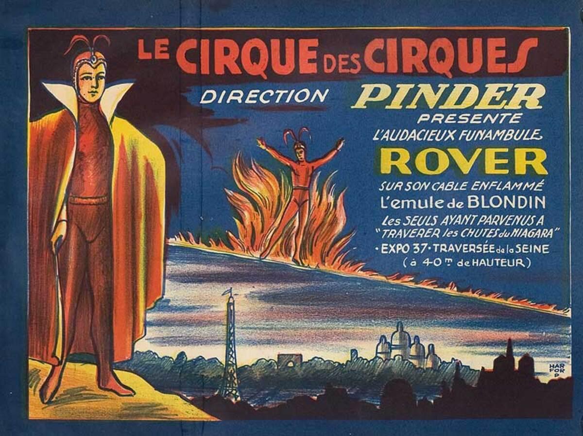 Cirque Pinder Original French Circus Poster Rover