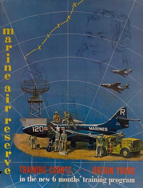 Marine Air Reserves, Original Vietnam War Era Recruiting Poster