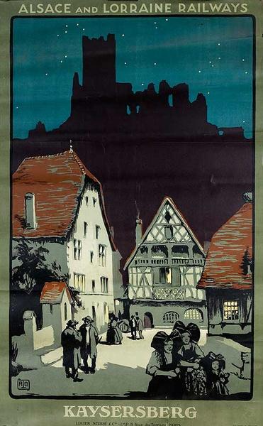 Original Alsace and Lorraine Railways Poste Kaysersberg