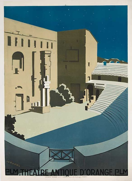 PLM Theatre Antique d'Orange Original French Travel Poster