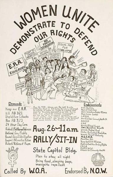 Women Unite Defend Our Rights Original American Protest Poster