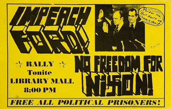 Impeach Ford No Freedom for Nixon Original American Protest Posters
