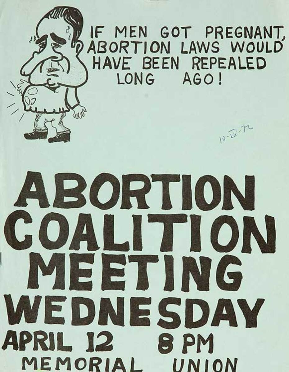 Abortion Coalition Meeting Original American Protest Poster