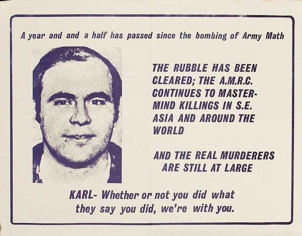 Army Math Bomber Original Vietnam War Protest Poster