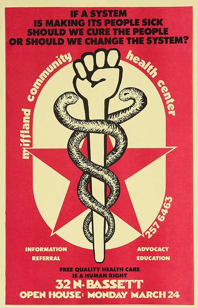 Community Health Center Original American Political Protest Poster