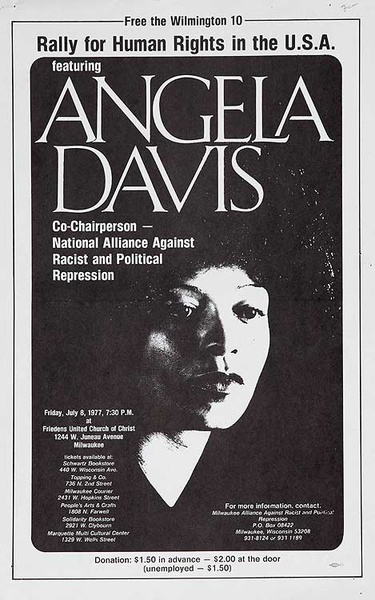 Rally For Human Rights Angela Davis Original American Protest Poster