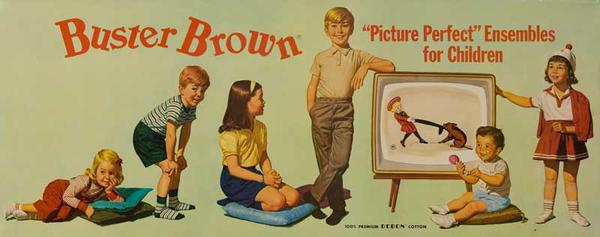 Buster Brown Original Advertising Poster Picture Perfect