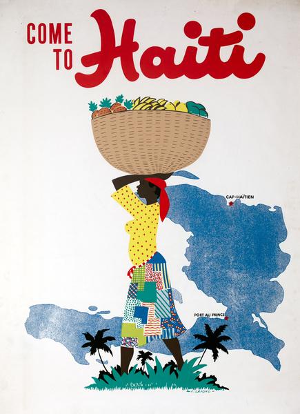 Come to Haiti Original Caribbean Travel Poster