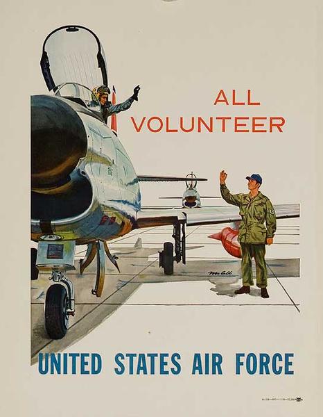 United States Air Force All Volunteer Original Korean War Recruiting Poster