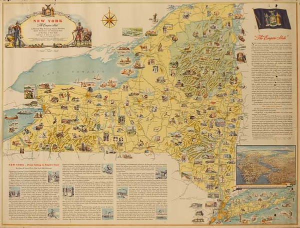 From Colony To Empire State Original New York History Poster
