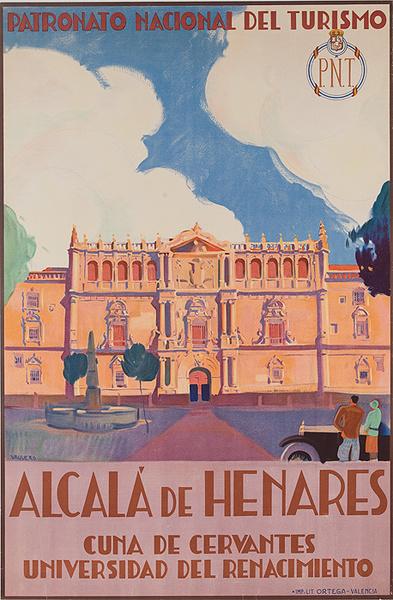 Original PNT Spanish Travel Poster Alcala de Henares