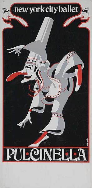 New York City Ballet Pulcinella Original Poster