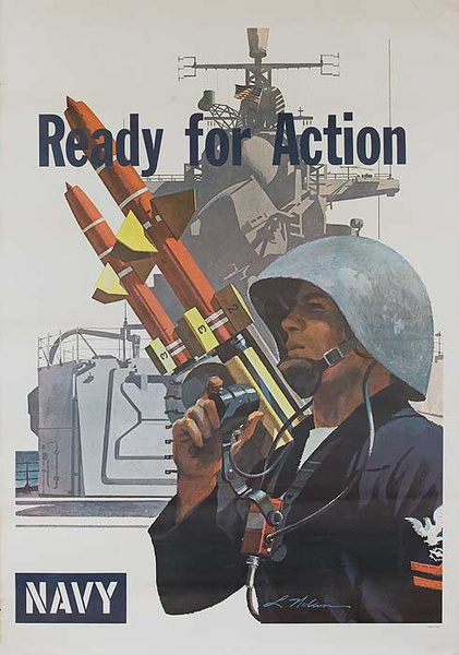 Ready For Action Original US Navy Recruiting Poster