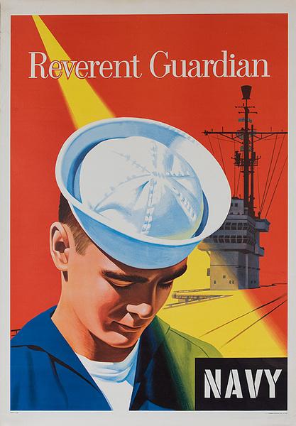 Reverent Guardian Original Korean War Navy Recruiting Poster