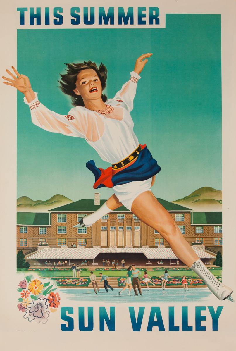 This Summer Sun Valley Original American Travel Poster