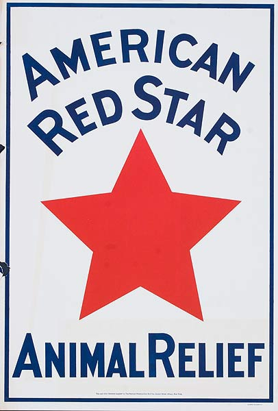 American Red Star Animal Relief Original American WWI Homefront Poster