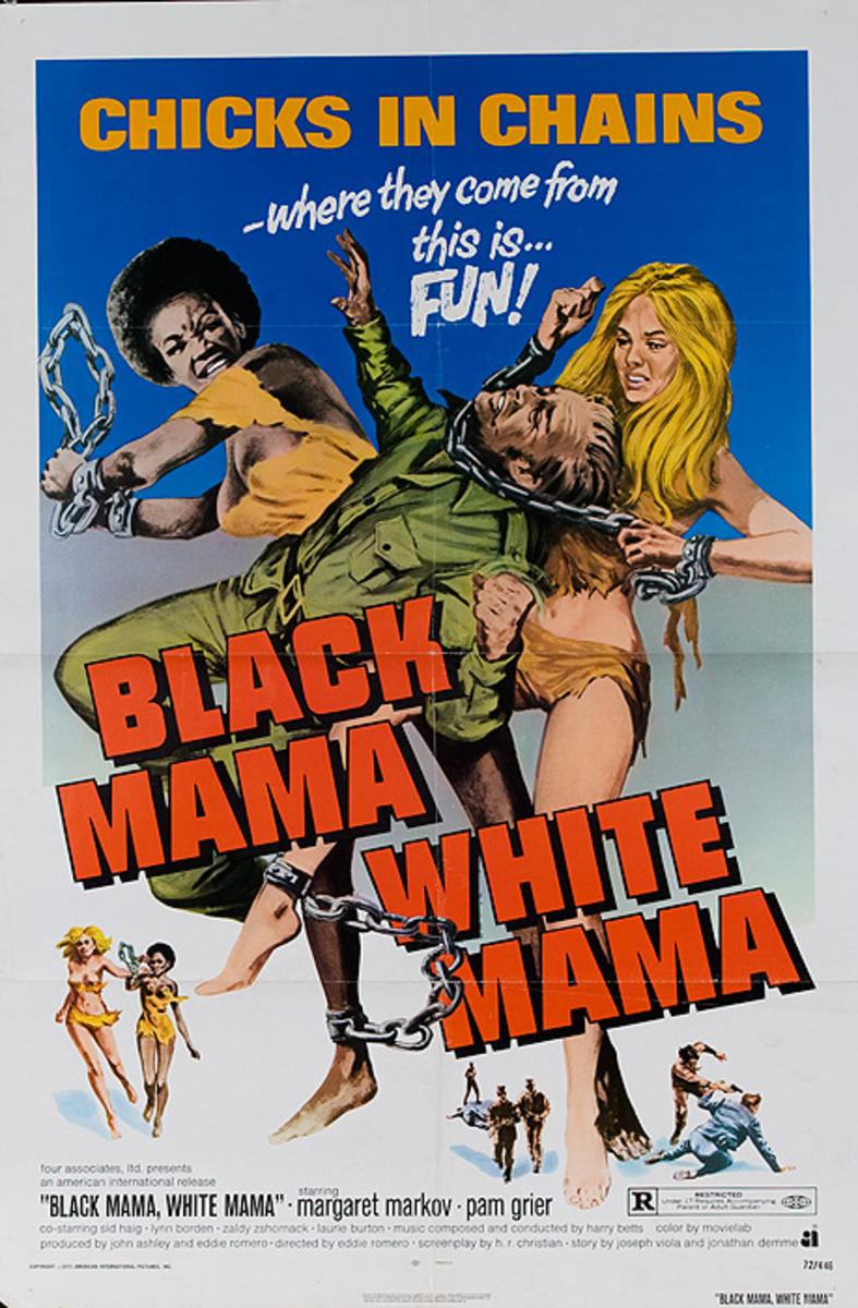 Black Mama White Mama Original American One Sheet Blacksploitation Movie Poster
