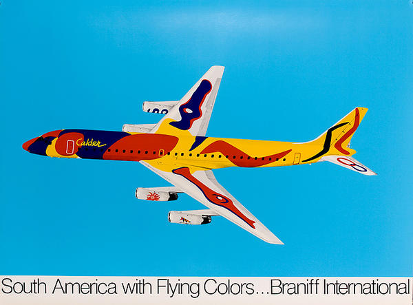 South America With Flying Colors Original Braniff International  Travel Poster