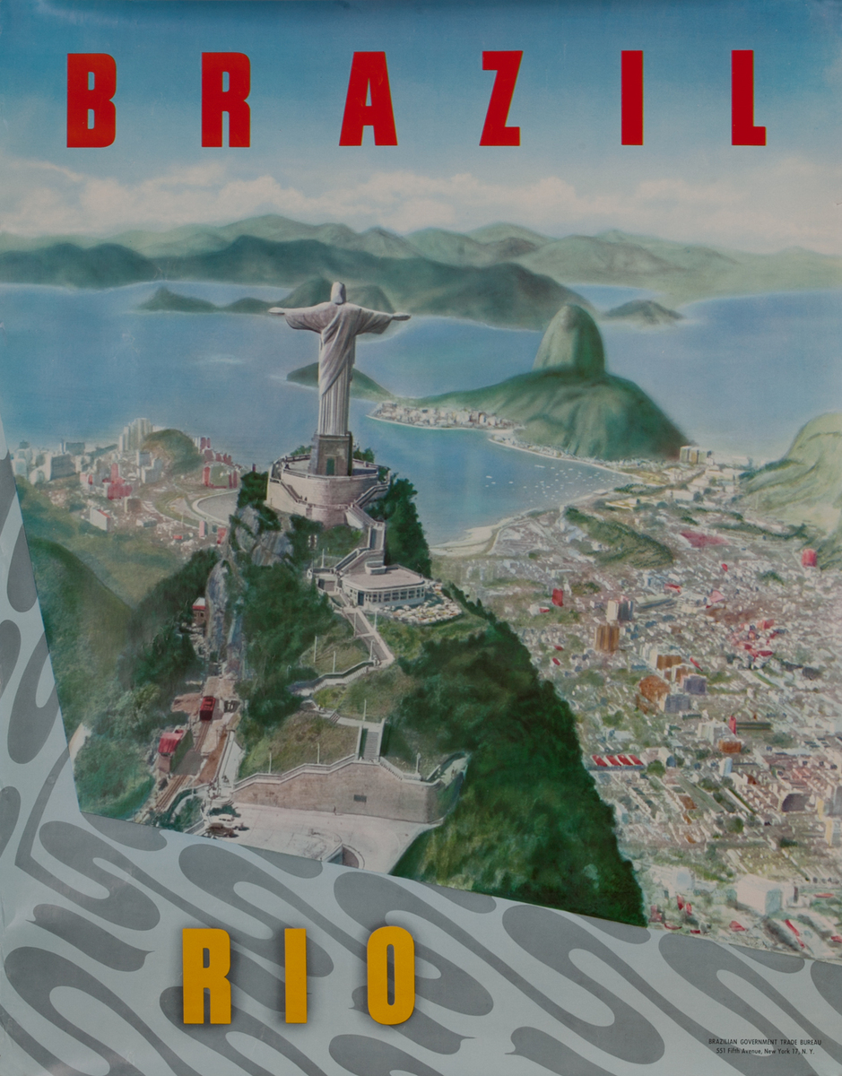 Brazil Rio Original Tourism Board Travel Poster