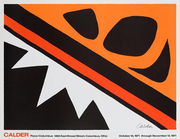 Calder Pace Columbus Gallery Original Exhibit Poster