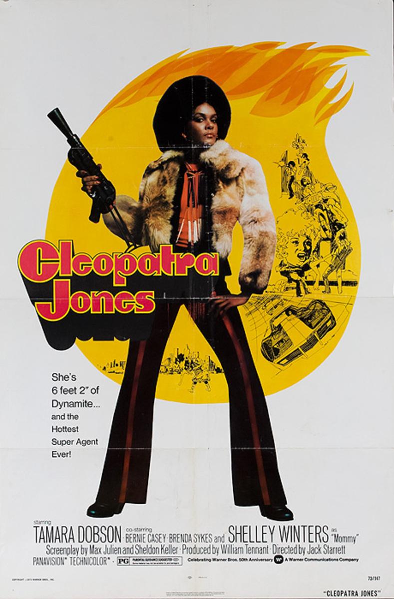 Cleoppatra Jones Original American Blacksploitation Movie Poster