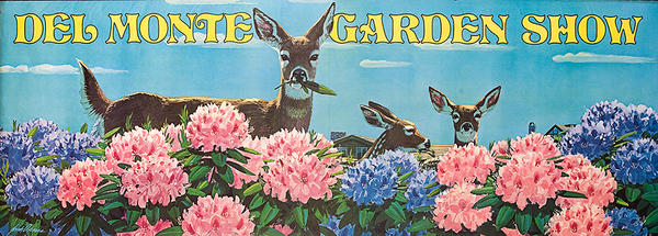 Del Monte Garden Show Original American Advertising Poster Deer