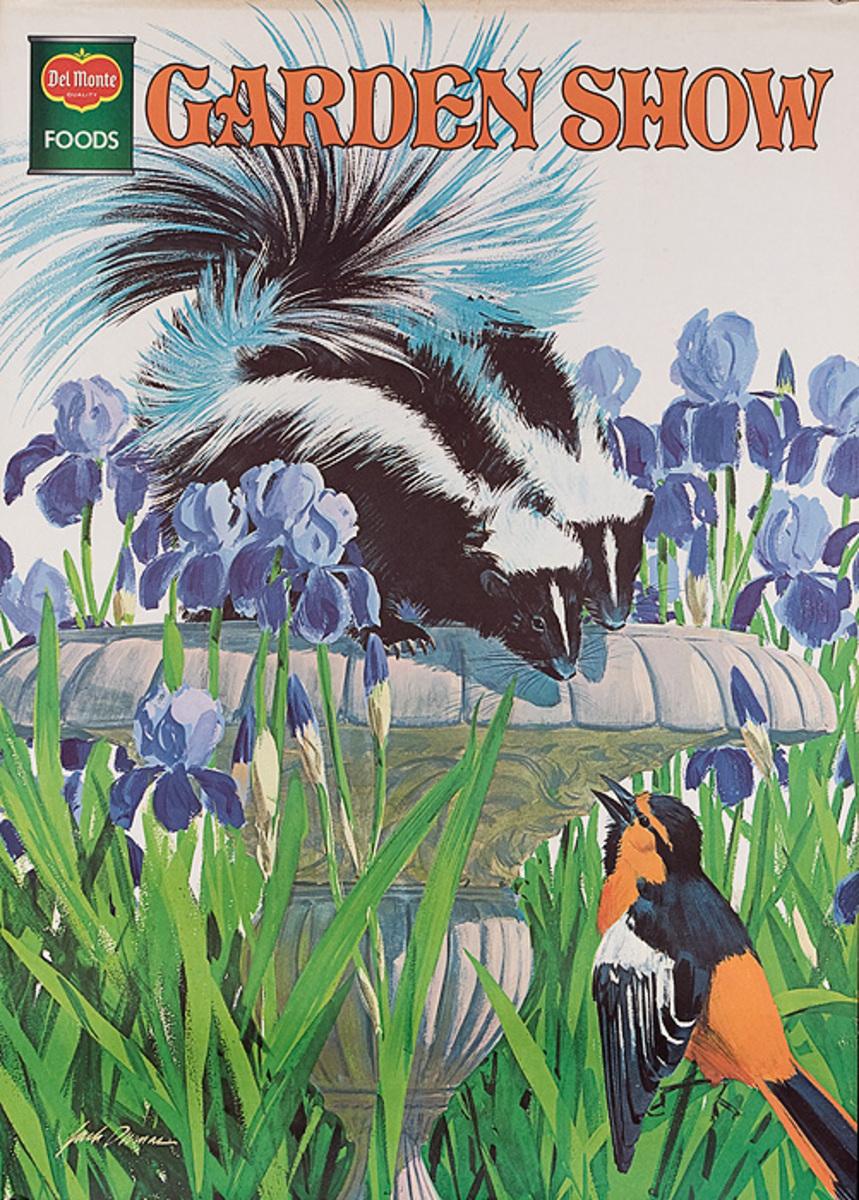 Del Monte Garden Show Original American Advertising Poster Skunk