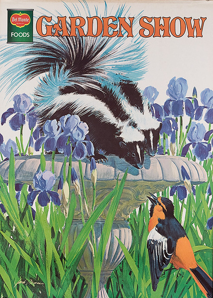 Del Monte Garden Show Original American Advertising Poster Skunk