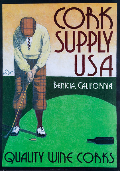 Cork Supply USA Original American Advertising Poster