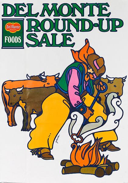 Del Monte Round Up Sale Original American Advertising Poster branding