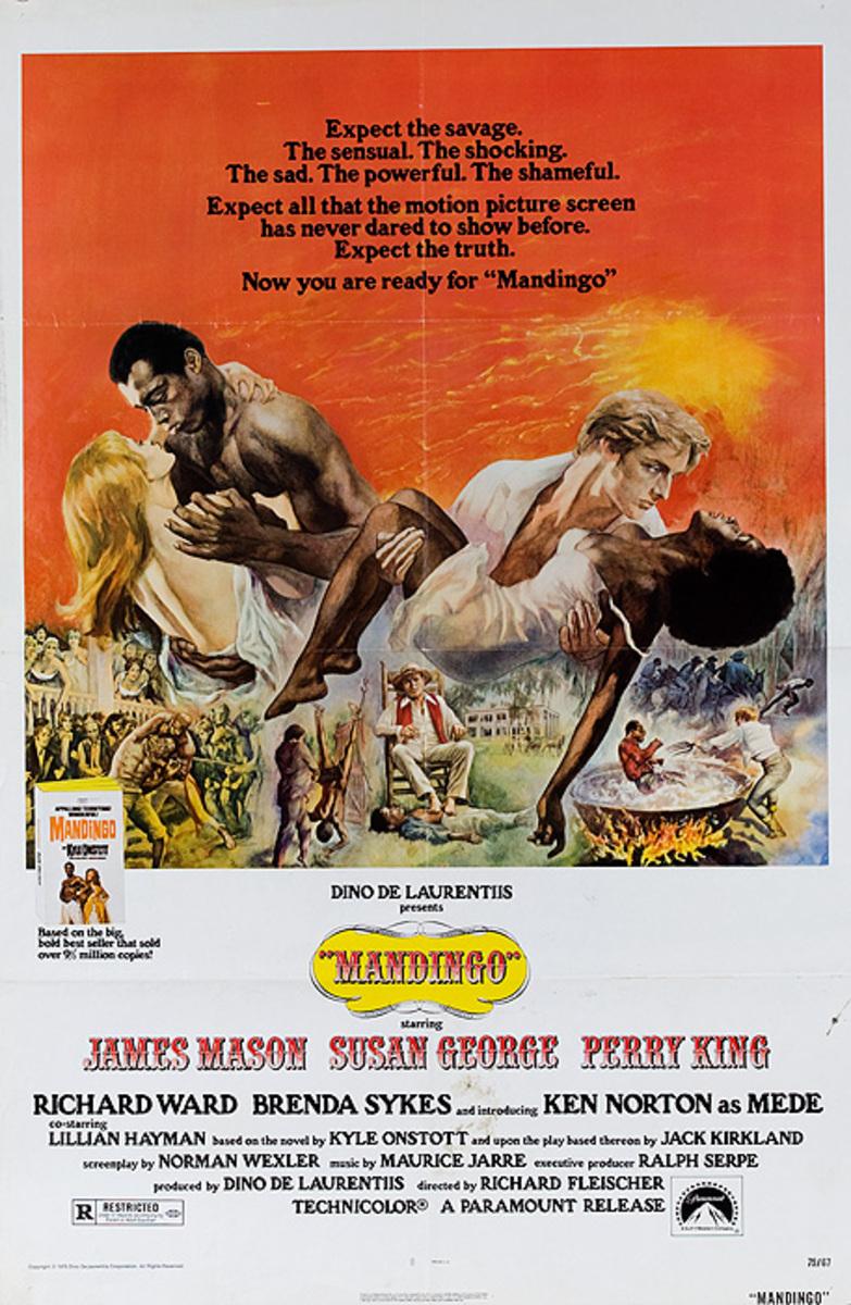 Mandingo Original American 1 Sheet Movie Poster