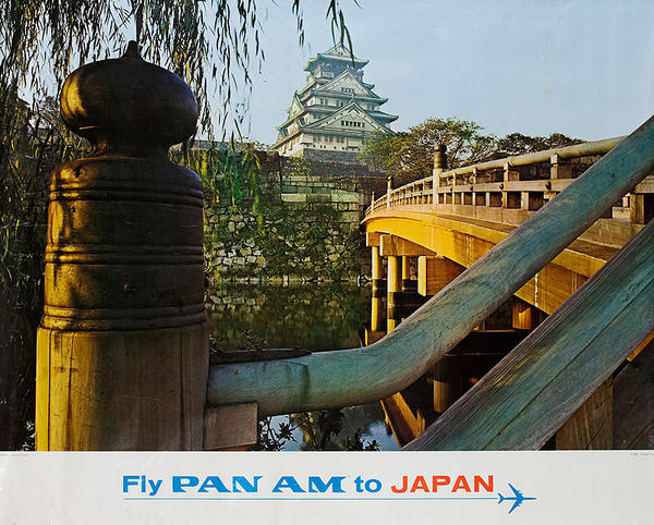Fly Pan Am to Japan Orignal Travel Poster