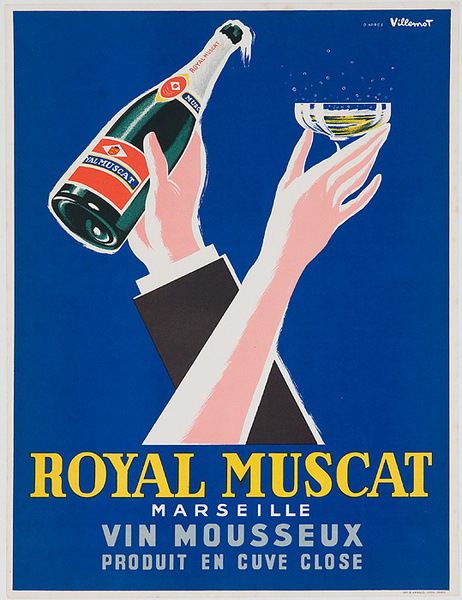 Royal Muscat Original French Advertising Poster