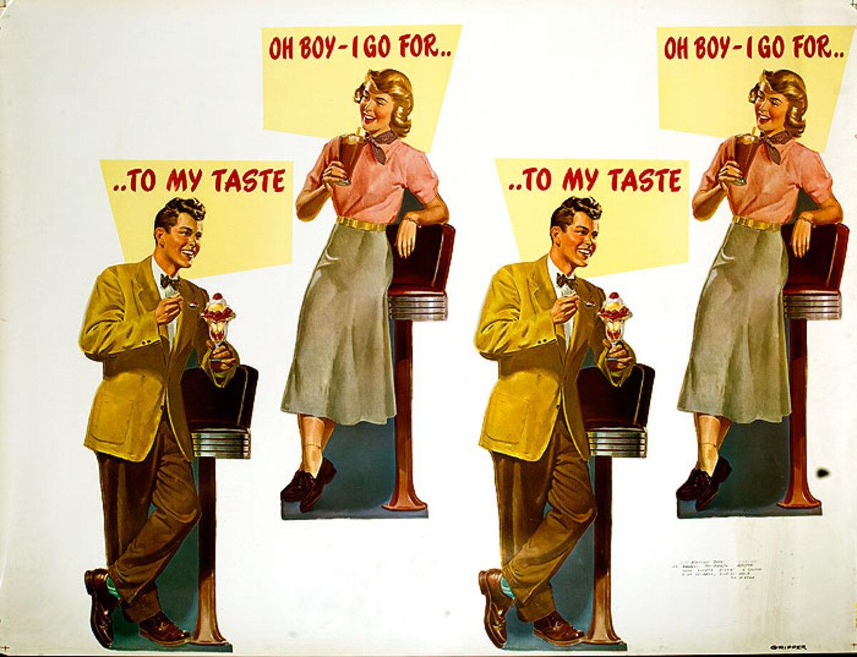 Huge Original Vintage Barstool Poster