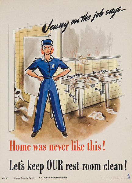 Jenny On the Job Home Was Never Like This Original American Women's Cause Homefront Poster